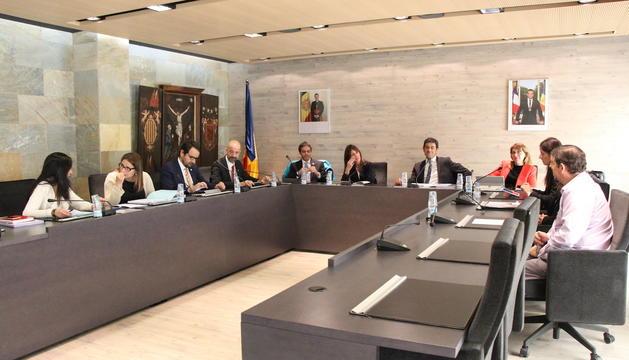 Un moment del consell de comú d'Ordino, celebrat avui al migdia.