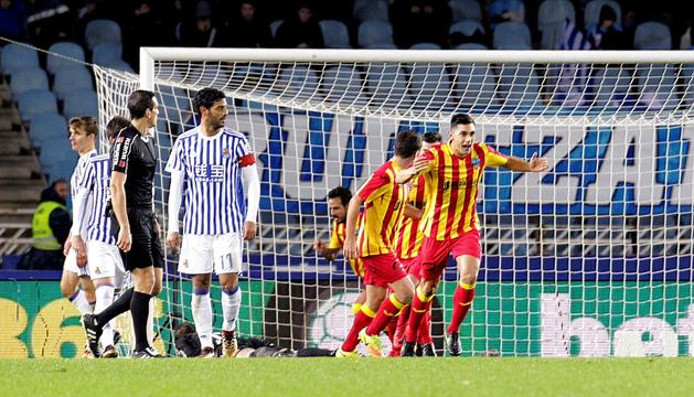 El Lleida dona la 'campanada' de la Copa en assaltar Anoeta