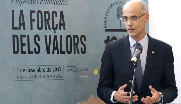 El cap de Govern, Toni Martí, durant el seu discurs.