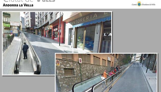 El projecte d'una cinta transportadora al llarg del carrer Ciutat de Valls.