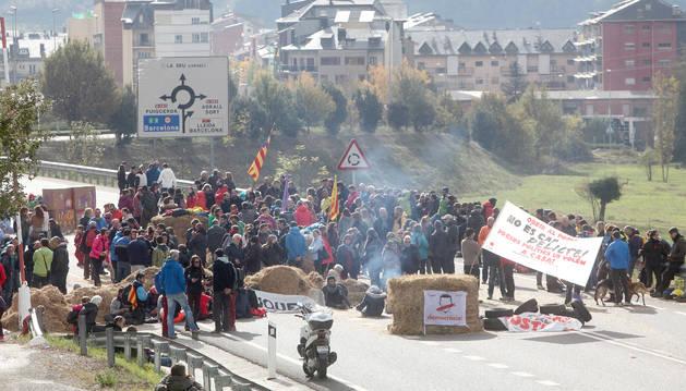 El tall de carretera del 8 de novembre es va perllongar durant 24 hores i va ser el més conflictiu.