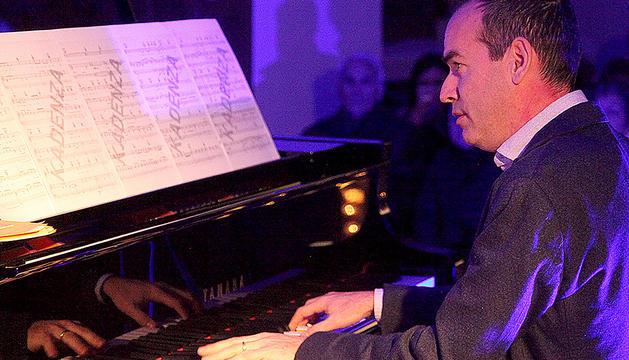 L'exministre Jordi Alcobé, al recital d'ahir a Canillo.