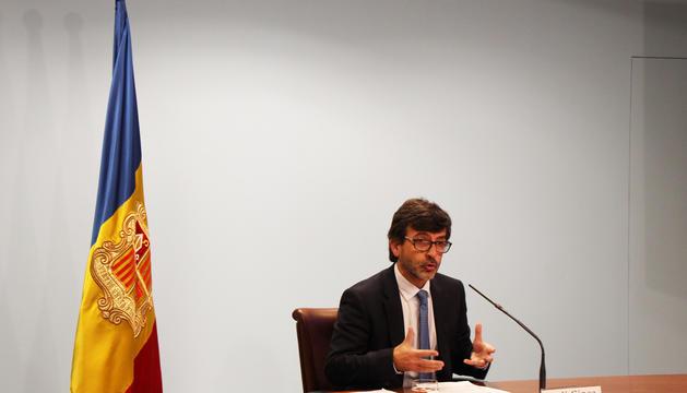 El ministre portaveu del Govern, Jordi Cinca, en la roda de premsa posterior al consell de ministres d'avui.  El ministre portaveu del Govern, Jordi Cinca, en la roda de premsa posterior al consell de ministres d'aquest dimecres.