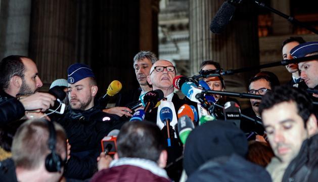 L'advocat belga de Carles Puigdemont, Paul Bekaert, ahir.
