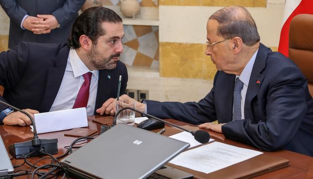 El primer ministre Saad Hariri (esquerra), en una imatge d'arxiu.