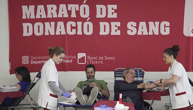 Donants de sang en una col·lecta el maig passat.