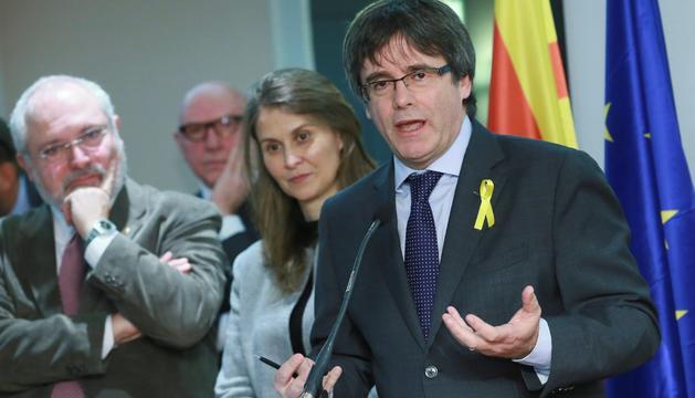 El president Puigdemont, dimecres a Brussel·les.