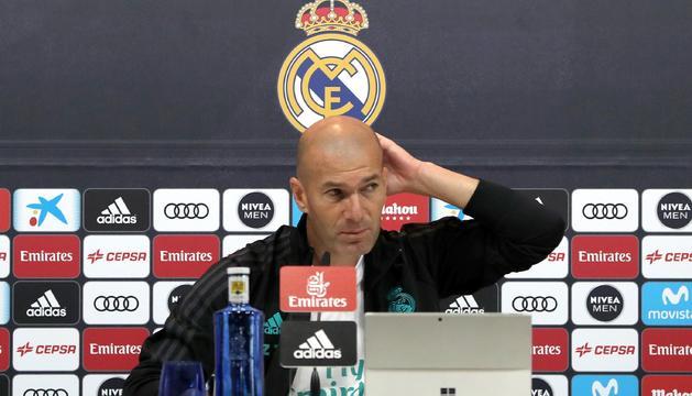 Zidane, ahir en roda de premsa.