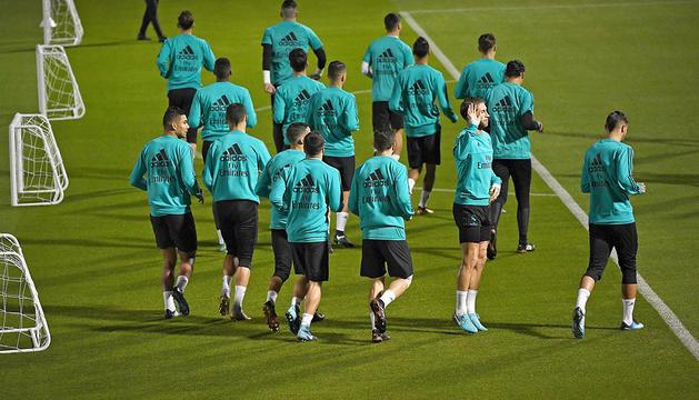 Entrenament del Reial Madrid.