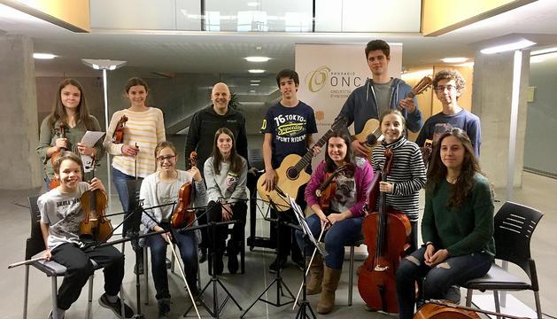 Els joves intèrprets que participaran en el concert.