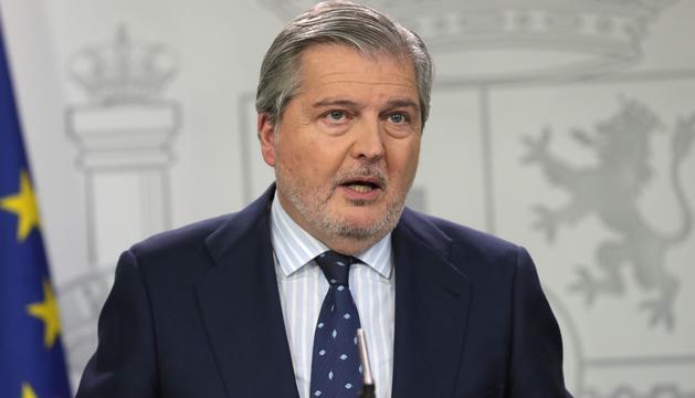 Íñigo Méndez de Vigo, ahir durant la roda de premsa posterior al consell de ministres.