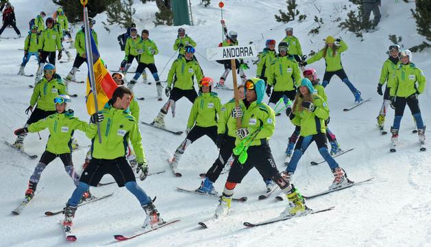 Part de l'equip andorrà a l'edició passada del Trofeu Borrufa.