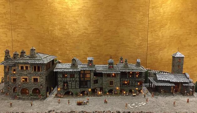 Maqueta a escala del poble d'Auvinyà.