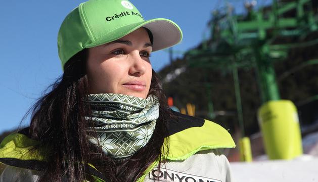 Mireia Gutiérrez, en la trobada de Nadal de la Federació Andorrana d'Esquí.