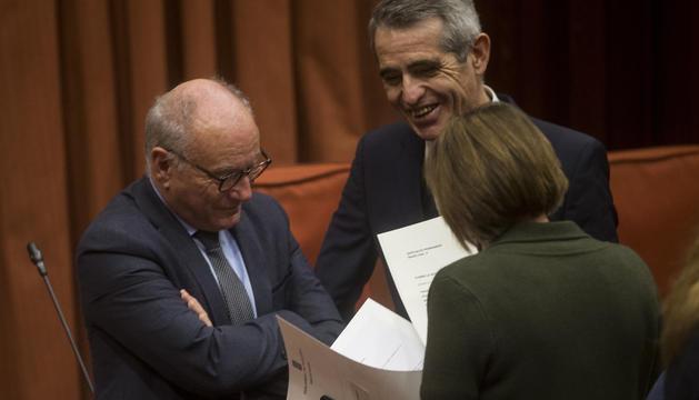 Un moment de la reunió de la Diputació Permanent del Parlament de Catalunya, ahir.