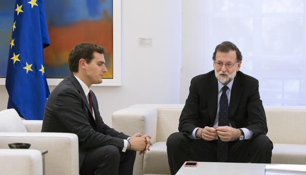 Mariano Rajoy i Albert Rivera, ahir a la Moncloa.
