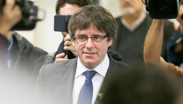 Carles Puigdemont, durant una roda de premsa a Brussel·les, en una imatge d'arxiu.