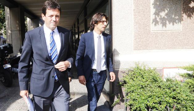 Ramon Cierco i l'advocat Enric Casadevall.