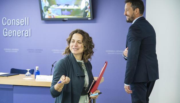 Els consellers socialdemòcrates Rosa Gili i Pere López