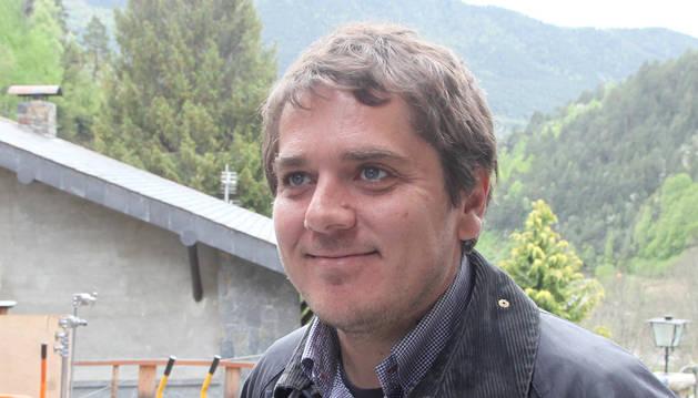 Ruano, que va formar part de l'equip de rodatge al país de 'Nieve negra'.