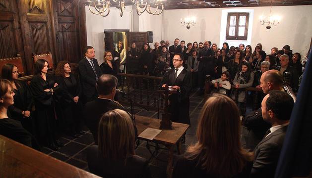 Jaume Tor jura el càrrec de magistrat de la Sala Civil del Superior