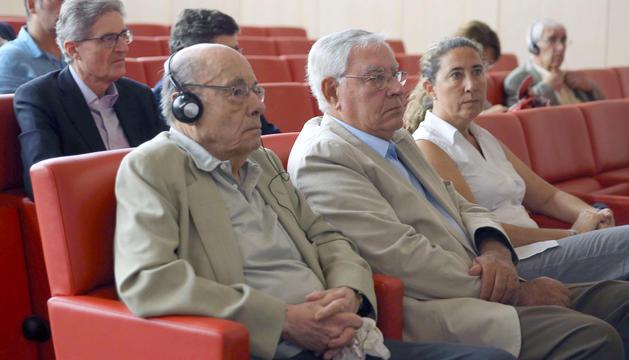 Fèlix Millet, i Jordi i Gemma Montull, durant l'última sessió del judici pel 'cas Palau'.