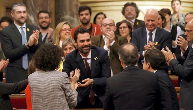 Roger Torrent ahir al Parlament de Catalunya.