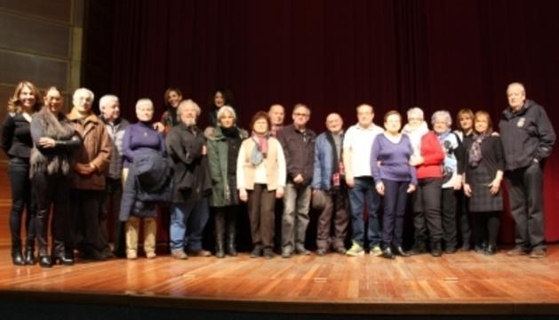 Els guanyadors del sorteig del viatge a Lalín.