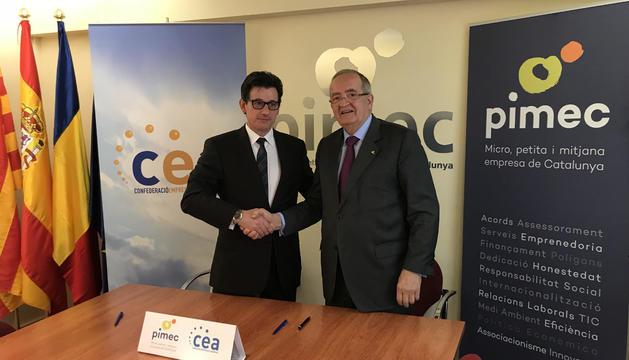 Xavier Altimir i Josep González han tancat l'acord per compartir representació a Brussel·les