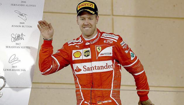 Sebastian Vettel, al podi d'un Gran Premi del curs passat.