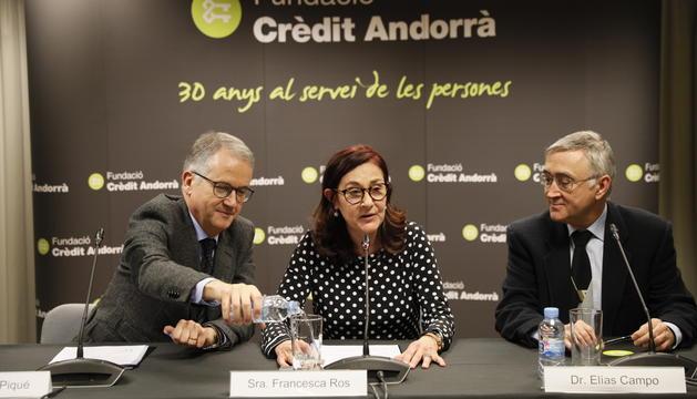 Josep Maria Piqué, Francesca Ros i Elías Campo han presentat avui el conveni de col·laboració