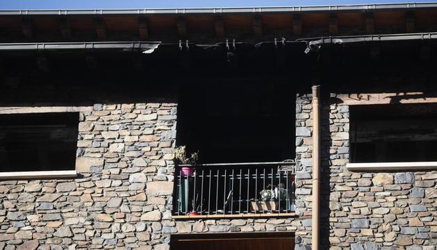 El pis que ha cremat aquesta matinada a La Massana