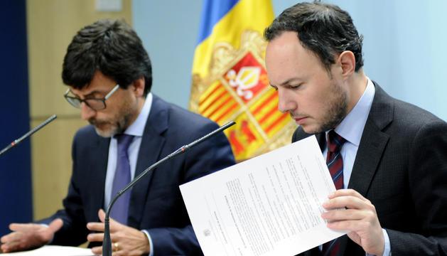 Els ministres Cinca i Espot han explicat els acords del consell de ministres