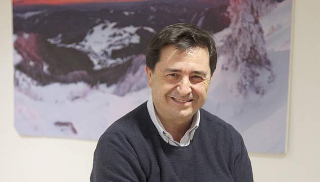Raúl Sánchez, abans de la xerrada d'ahir.