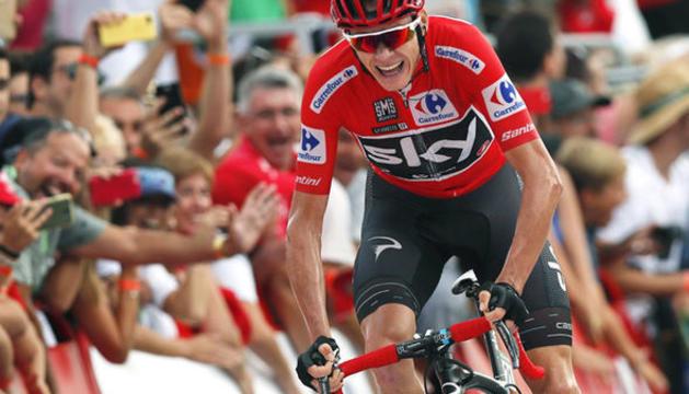 Chris Froome, durant una etapa de La Vuelta 2017.