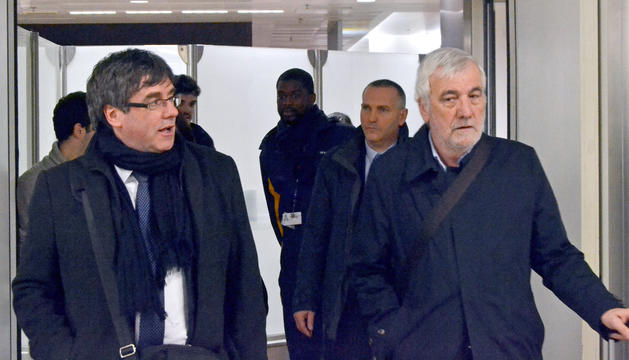 Carles Puigdemont i l'empresari Josep Maria Matamala, a Brussel·les.