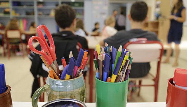 Alumnes en un aula de l'escola andorrana