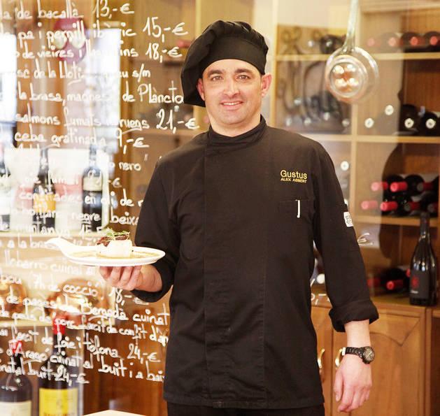 Àlex Asbert és el cuiner de Gustus Restaurant