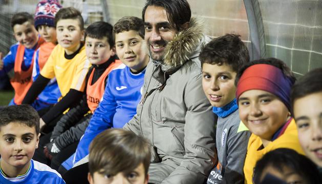 Xavi Andorrà ha pogut tornar a jugar a futbol a l'Inter Escaldes on col·labora a més entrenant els infants.