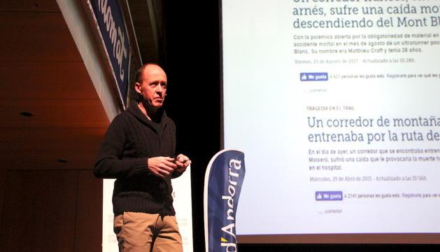 César Canales exposa els riscos de la muntanya