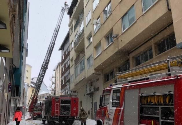 Els bombers del Pas de la Casa han rebut reforços de Canillo i d'Andorra la Vella