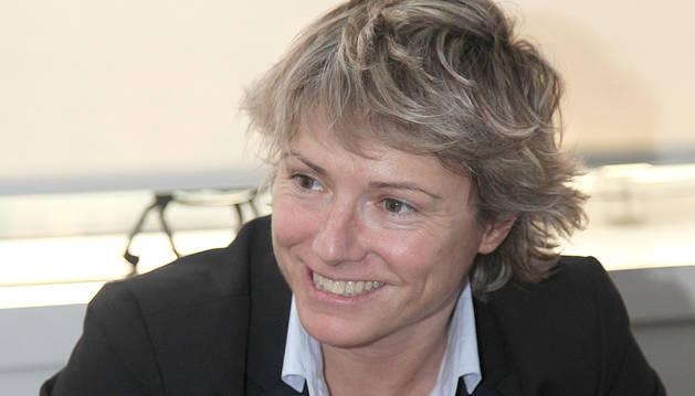 Gemma Riu a les oficines de Bomosa.
