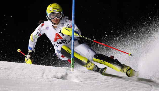 L'esquiadora Mireia Gutiérrez ha competit en eslàlom aquesta matinada