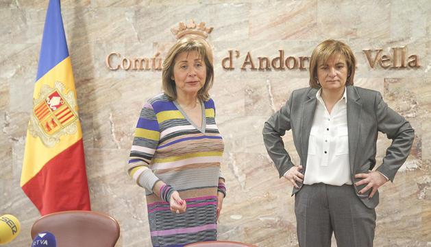 Les dues cònsols majors del país, Conxita Marsol i Trini Marín.