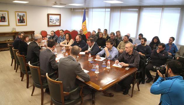 Reunió del Govern i els representants sindicals la setmana passada