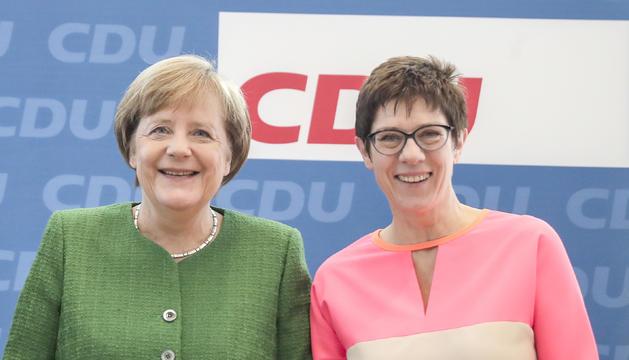 Angela Merkel i Annegret Kramp-Karrembauer, ahir.