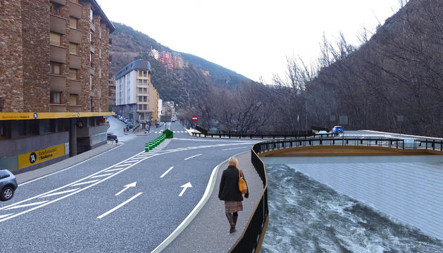 Simulació del pont preveu construir el Govern a Sant Julià
