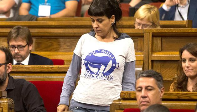 L'exdiputada de la CUP Anna Gabriel.