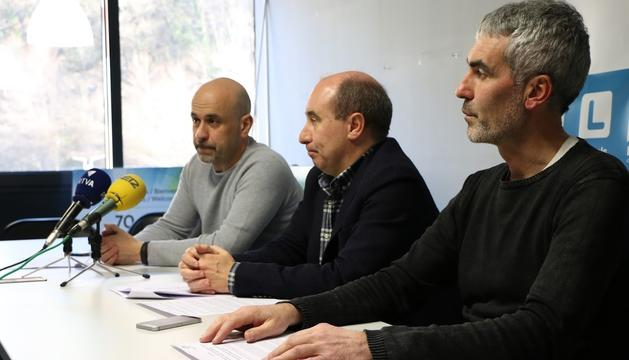 El comitè parroquial de Ld'A a Escaldes durant la roda de premsa