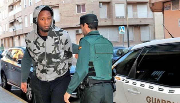 Rubén Semedo en el moment d'arribar al jutjat número sis de Llíria (València).